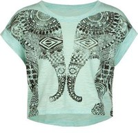 FULL TILT Mirrored Elephant Girls Tee