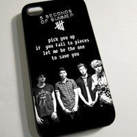 5 Second of Summer 5SOS Love Quote - Print on Hardplastic for iPhone 4/4s and 5 case, Samsung Galaxy S3/S4 case.