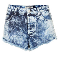 MOTO Brooke Acid Denim Hotpants