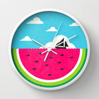 Watemelon Deep Wall Clock by Ivan Rodero