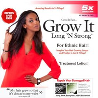 Want Longer Hair? Want Stronger Hair? Grow Hair Fast! Buy Long 'N Strong® Treatment Lotion - Longer, Thicker Hair! - Split End Repair - Split end treatment! For All Ethnic Hair Types!!