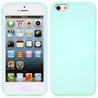 Phoneadd - Alice Pastel Soft Slim Fit Jelly Case for Iphone 5 5S (Mint)
