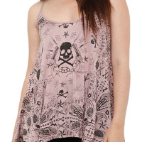Teenage Runaway Blush Bandana Girls Tank Top