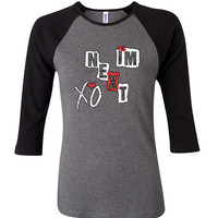 i'm next xo 3/4 Sleeve Baseball Ladies Jersey - TeeeShop