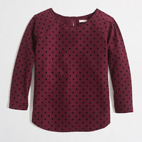 Factory dotted ponte top - long sleeve - FactoryWomen's Knits & Tees - J.Crew Factory