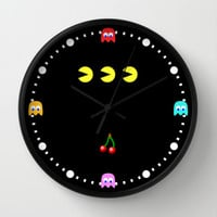 PACMAN! Wall Clock by John Medbury (LAZY J Studios)