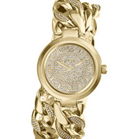 Michael Kors Mid-Size Golden Ellie Three-Hand Glitz Watch