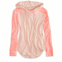 AEO FACTORY COLORBLOCK HOODIE T-SHIRT