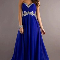 2013 Chiffon Evening Dresses Formal Prom Party Gown Stock Size 6 8 10 12 14 16