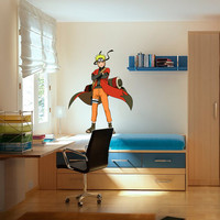 Naruto Decal Sennin - Hero Printed and Die-Cut Vinyl Apply in any Flat Surface - Naruto Uzumaki Sennin Shippuden Wall Art Design Decor