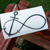Infinity Anchor Heart || Vinyl Window Decal
