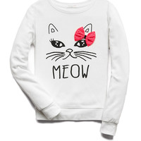 Quirky Meow Sweatshirt (Kids) | FOREVER21 girls - 2000129562
