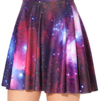 Galaxy Purple Skater Skirt - LIMITED
