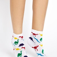 ASOS 3 Pack Dinosaur Ankle Socks