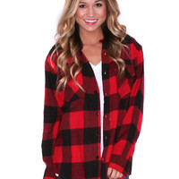 Cozy For Days Unisex Flannel Red