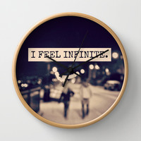 I Feel Infinite Wall Clock by Caleb Troy