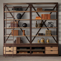 1950s Dutch Shipyard Double Shelving