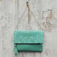Sage & Lace Tote in Mint