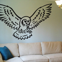 Owl Wall Decal Wall Sticker Art Bird Flying Night Time Room Decor