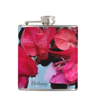 Bougainvillea flowers in water flask