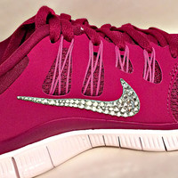 Nike Free 5.0 running shoes 5.0 with Swarovski detail Bright Magenta