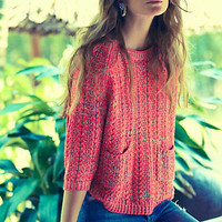 Marled Swing Sweater by Moth Pink Xxs P Sweaters