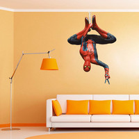 Spiderman Decal - Heroes and Super heroes Printed and Die-Cut Vinyl Apply in any Flat Surface- Spider Man Wall Art Decor