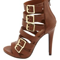 Strappy Belted High Heel Sandals