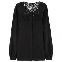 Clove lace and silk blouse