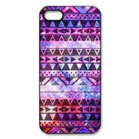 amtonseeshop Nice Brand New Stylish Hot Aztec Tribal Pattern Case for Iphone 5 5s 5th/iphone 4 4g 4gs/samsung Galaxy S4 I9500 (Purple Floral iPhone 5 5S)