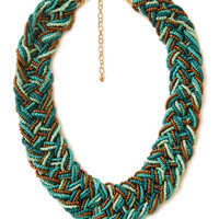 Eclectic Braided Bead Necklace