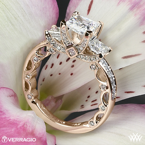 20k Rose Gold Verragio Bead Set Princess from whiteflash