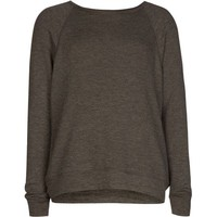Full Tilt Essential Girls Cozy Sweatshirt Charcoal  In Sizes