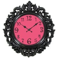 Black & Pink Victorian Style Wall Clock | Shop Hobby Lobby