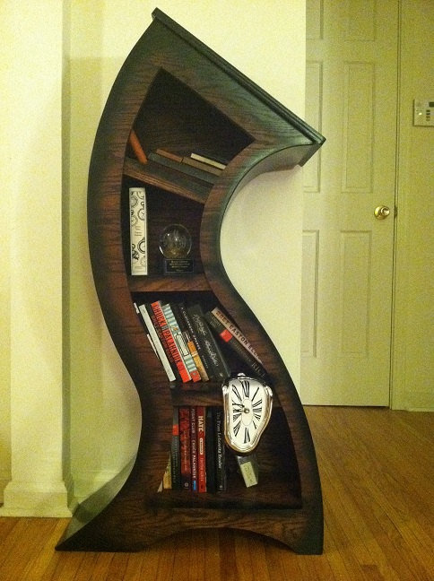 Free Shipping this month only 4ft Curved Bookshelf by WoodCurve