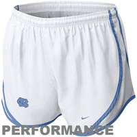 Nike North Carolina Tar Heels (UNC) Womens Tempo Performance Shorts - White