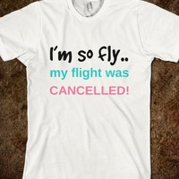 i'm so fly my flight was cancelled!