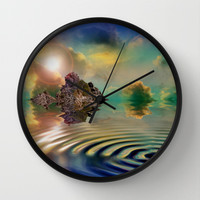 ISLAND OF DREAMS Wall Clock by catspaws