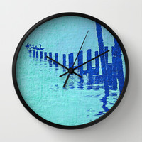 OCEAN BLUE Wall Clock by catspaws