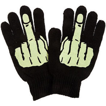 The Glow Middle Finger Gloves
