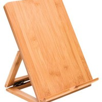 Lipper International Bamboo Adjustable Ipad Stand, Brown
