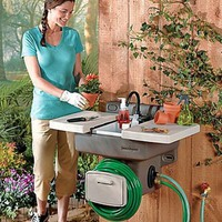 Handy Outdoor Garden Sink w Hose Attachment Rugid Outdoor Garden Wall Fixture