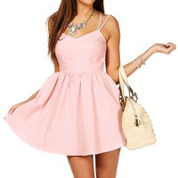 Pre-Order Blush X-Back Skater Dress