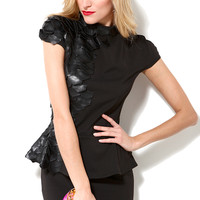 Scale Peplum Dress