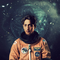 Krishnamurti Astronaut Poster, An Enlightened Space Print