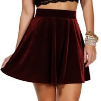 Promo-Burgundy Velvet Holiday Skirt