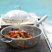 Steel Grill Chef's Pan with Lid