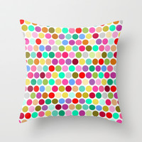 dotty Throw Pillow by musings