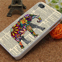 iphone 4 case, iphone 4s case,iphone 5 cases, elephant and on Dictionary page cover skin case for iphone 5c case