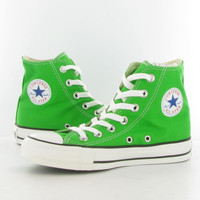 Converse Canvas Allstar Hi Kids Boots in Green